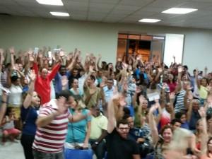 Servidores Públicos de Capivari participam da Assembleia  que discute o aumento salarial da categoria.