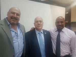 Humberto Panzetti, Niky Fabiancic, coordenador residente da ONU, e Márcio.