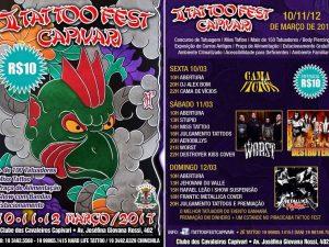 Cartaz da segunda edição do Tatoo Fest Capivari