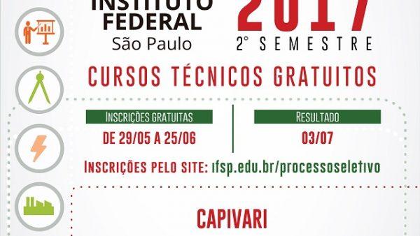 IFSP Capivari oferece 40 vagas para curso Técnico em Química