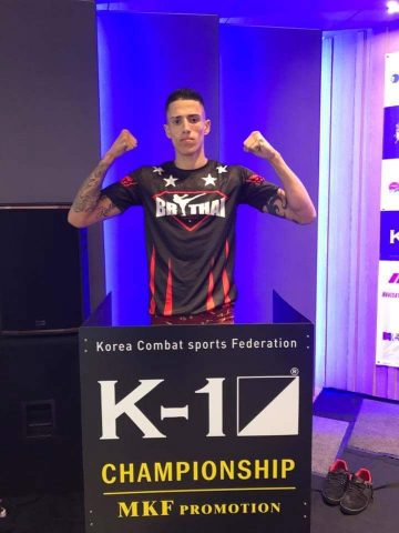 Marcos Alves Durante a Pesagem do K1 World Max na Koréia